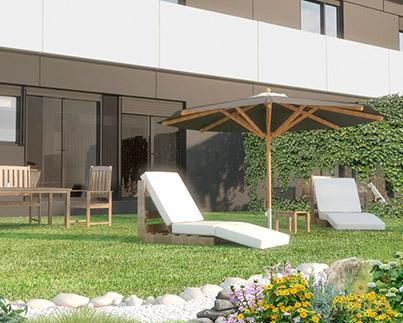 vivienda residencial aire libre